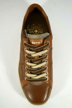 bc48dd6e644041 BOTTI scarpe uomo SNEAKERS sportive stringate vera pelle CERVO MARRONE P/E  2019