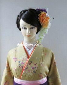 藤の和装髪飾りです。 ブライダル・ベルLuck http://bridalbell-luck.ocnk.net/ もりや着付教室(西所沢)の出張着付け・ヘアメイクもご利用ください。