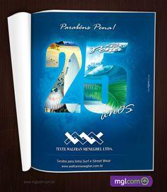 Pena é uma empresa de surfwear criada em 1986 com o âmbito de ver o surf como um esporte cada vez mais profissional, além de suprir a necessidade da época com roupas apropriadas para o surf.    Confira o trabalho feito para eles: http://www.mglcom.com.br/blog/2011-12-19-anuncio-pena-25-anos