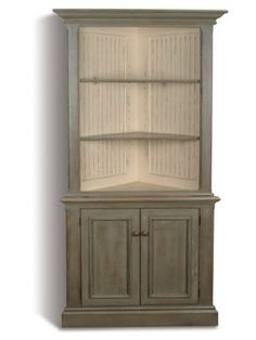 Lovely Unfinished Wood Corner Cabinet