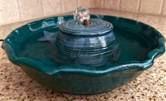 Cat Water Fountain by WetWhiskersFountains on Etsy