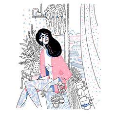 Thibaut Rassat est un illustrateur français que j'apprécie beaucoup. J'aime ses traits grossiers, et l'utilisation de peu de couleurs, comme ici !