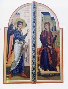 Архим. Зинон Byzantine Icons, Art Icon, Orthodox Icons, Fresco, Medieval, Princess Zelda, Painting, Fictional Characters, Blessed Virgin Mary