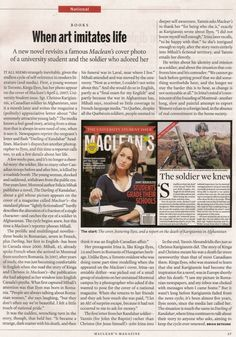 Great coverage for Felicia Mihali and The Darling of Kandahar in Maclean's.