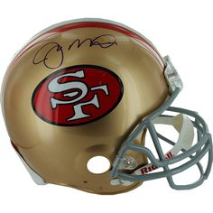 Joe Montana Signed Authentic 49ers Helmet - Joe Montana Autographed Helmet-San Francisco 49ers Authentic Full Size Helmet-Steiner Holo.-Joe Montana has personally hand-signed this San Francisco 49ers Authentic Full Size Helmet. Montana is widely-considered the greatest Quarterback of all-time. Montana autographs are a wonderful addition to the collection of any true sports fan. This Joe Montana autograph is guaranteed authentic by Steiner Sports and includes a Steiner Sports Certificate of…