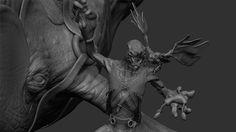 https://www.behance.net/Heliot whale rider zbrush character design