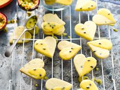 Passionfruit shortbread with passionfruit glaze recipe - By Australian Women's Weekly, Sweet, crumbly and glazed with the sweet tang of passionfruit. Perfect for morning or afternoon tea with the girls, and sweet treats for the kids. Homemade Shortbread, Lavender Shortbread, Shortbread Biscuits, Shortbread Recipes, Biscuit Cookies, Chocolate Dipped, Melting Chocolate, Chocolate Brownies, Afternoon Snacks