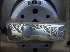 Thierry Duguet, hammer push engraving, gold inlay and overlay : Leopard project (part 1)