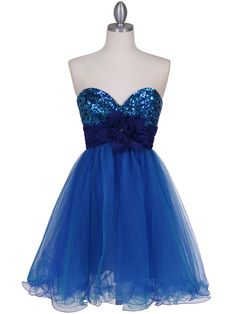 $38. Blue in 6 and 12 homecoming dress. Final Sale.