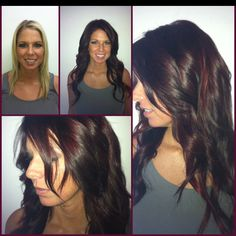 Brown with a slight red tint....exactly what i want!!!!
