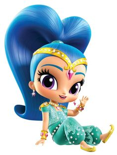 Shimmer and Shine Shine waving Shimmer And Shine Characters, Shimmer And Shine Cake, My Little Pony Dolls, Mosaic Wall Art, Lol Dolls, Wall Art Pictures, Arabesque, Big Eyes, Diy Painting