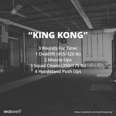 """""""King Kong"""" WOD - 3 Rounds For Time: 1 Deadlift (455/320 lb)"""