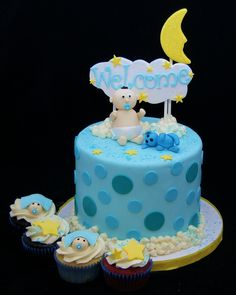 welcome baby shower cake