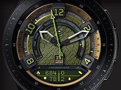 Recon, a military themed Samsung watch face. Phone Screen Wallpaper, City Wallpaper, Cool Guns, Watch Faces, Smart Watch, Cool Designs, Samsung Galaxy, Watches, Studio