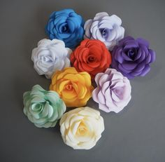 Customised flowers like these are available to order on request. Paper Flowers, Rose, Plants, Pink, Roses, Plant, Planting, Planets