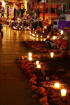 Noche del dia dedicado a los difuntos, tetela de Ocampo, Puebla Mexico
