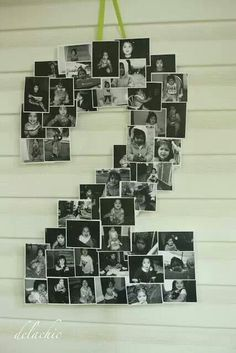Baby picture collage,great for birthday parties