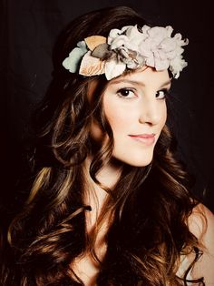 flower halo headband