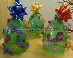 Risultati immagini per lavoretti di natale per bambini con bottiglie di plastica