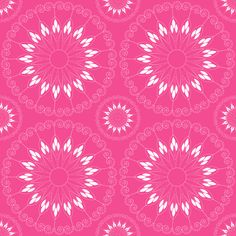 stylized pink flower pattern custom fabric by suziedesign for sale on Spoonflower Abstract Pattern, Girly Girl, Custom Fabric, Flower Patterns, Spoonflower, Pink Flowers, Craft Projects, Wallpapers, Quilts