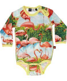 Molo cool flamingo printed bodystocking
