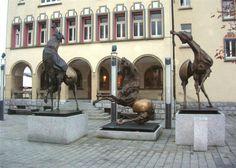 Metal Art, Art Pieces, Lion Sculpture, Horses, Statue, Horse, Metal Yard Art, Artworks, Sculptures