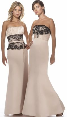 Alexia Designs Satin Bridesmaid Dress with Lace at Waist 2902 1379f13cb