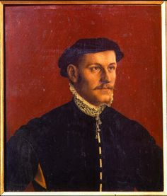 Hans Holbein the Younger: Picture of Portrait of a Man, thought to be Thoma More - Uffizi Gallery, Florence
