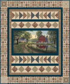 """Homestead Quilt Pattern UCQ-P62 Beautiful quilts made using """"Heritage Quilting"""" fabric from Northcott."""