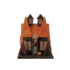 Halloween glitter house. Adorable.