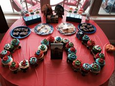 Cupcake train for train themed birthday party