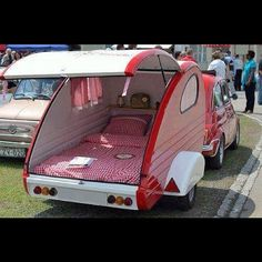 This caravan would be awesome for drive in date nights!