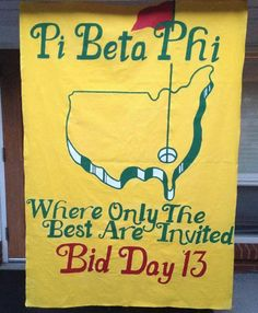 pi beta phi GOLF theme bid day!