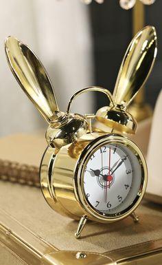 The Emily + Meritt Bunny Alarm Clocks $59 Visit bit.ly/emilyandmerittforpbteen Or call 1-866-472-4001 to pre-order this item.