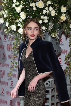 LilyRose Depp attends the Sidaction Gala Dinner 2017 Haute Couture Spring Summer 2017 show as part of Paris Fashion Week on January 26 2017 in Paris...