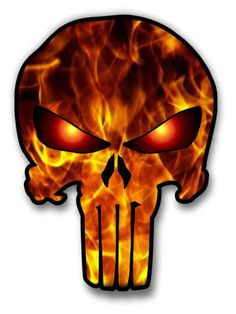 Punisher Sticker Flames Pattern For Cars Trucks Laptops Tool Boxes Etc. Punisher Stickers, Punisher Skull Decal, Punisher Tattoo, Punisher Logo, Punisher Marvel, Pirate Skull Tattoos, Gas Mask Art, Skull Stencil, Hd Wallpaper Android