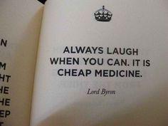 Laughter, cheap medicine