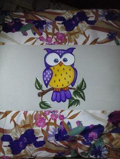 Capa para almofada pintura em tecido