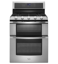$1849.00   Their top of the line gas range w/ double oven.  I'm going to compare other brands first. Whirlpool® 6.0 Total cu. ft. Double Oven Gas Range with Convection Cooking