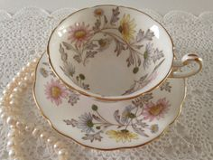 E Brain Foley China Tea Cup & Saucer Somerset by TheEclecticAvenue