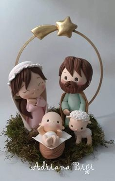 Christmas Nativity Scene, Christmas Makes, Noel Christmas, Nativity Crafts, Christmas Crafts, Christmas Decorations, Christmas Ornaments, Polymer Clay Projects, Polymer Clay Art