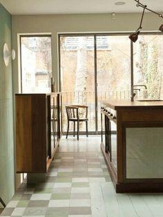 Tile reclaimed flooring.