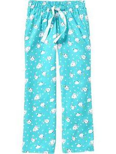 Women's Printed Flannel PJ Pants | Old Navy