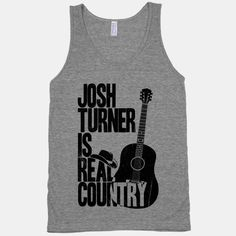 Josh Turner's deep voice is like a warm breeze on a beautiful summer day. Throw this shirt on, put on your cowboy boots and take a long drive through the countryside