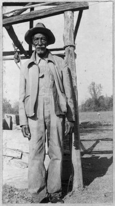 """CAMPBELL DAVIS, 85, born a slave, in Harrison Co., Texas. """"I knows better things am ahead for us people and us trusts in de Lawd.""""  (Texas Slave Narratives 1936-1938)"""