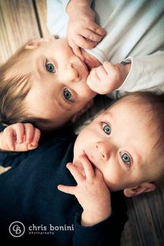 Or just keep things simple:   34 Beautiful And Creative Photography Ideas For Twins
