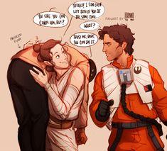 JOHANNA THE MAD Rey, Poe and Finn
