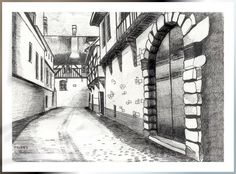 Troyes - encre de chine - By Manola
