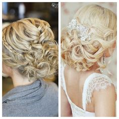 waves wedding hair up do