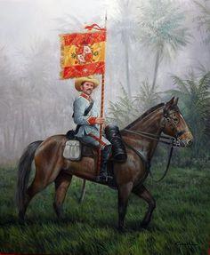 La Pintura y la Guerra. Sursumkorda in memoriam The Spanish American War, American Civil War, Military Art, Military History, Military Uniforms, Spanish Heritage, Rough Riders, World War One, Toy Soldiers
